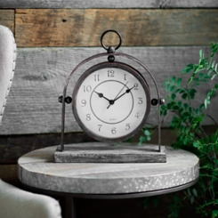 Charles Round Tabletop Clock