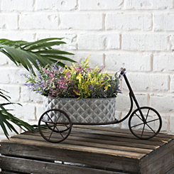 Quilted Metal Tricycle Planter