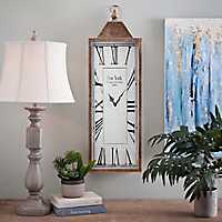 Rectangular Gold Antique Metal Wall Clock