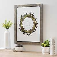 Oh How He Loves Us Wreath Framed Wall Plaque