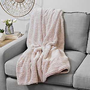 Barni Rose Smoke Faux Fur Throw Blanket
