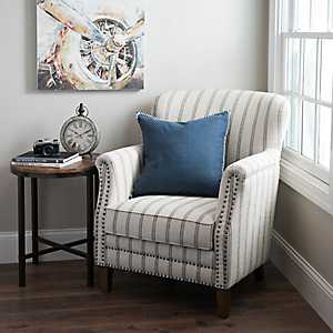 Flax Pinstripe Accent Chair