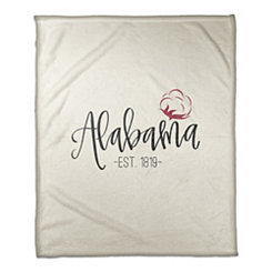 Alabama Cream Fleece Blanket