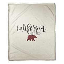 California Cream Fleece Blanket