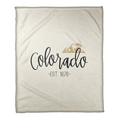 Colorado Cream Fleece Blanket
