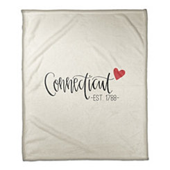 Connecticut Cream Fleece Blanket