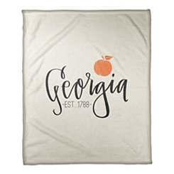 Georgia Cream Fleece Blanket