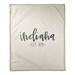 Indiana Cream Fleece Blanket