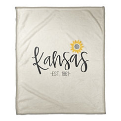 Kansas Cream Fleece Blanket