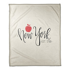 New York Cream Fleece Blanket