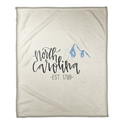 North Carolina Cream Fleece Blanket