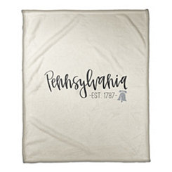 Pennsylvania Cream Fleece Blanket