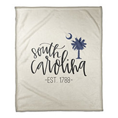 South Carolina Cream Fleece Blanket