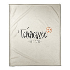 Tennessee Cream Fleece Blanket