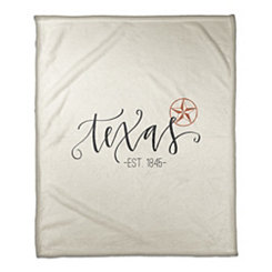 Texas Cream Fleece Blanket
