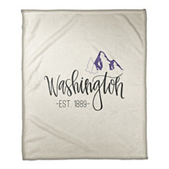 Washington Cream Fleece Blanket