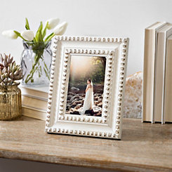 Distressed Cream Beaded Picture Frame, 4x6