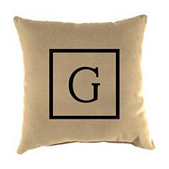 Natural Monogram G Outdoor Pillow