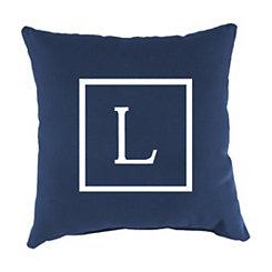 Navy Monogram Outdoor Pillows