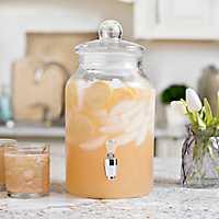 Glass Lid Beverage Dispenser