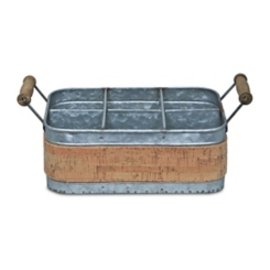 Metal and Cork Caddy