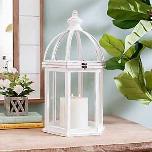 White Abby Round Lantern