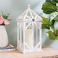Whitewashed Wood Beth Lantern