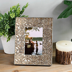 Gold Embossed Metal Picture Frame, 4x6
