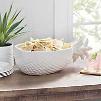 White Pineapple Bowl, 18 in.