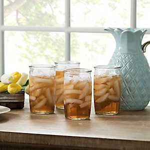Vintage Jar Glasses, Set of 4