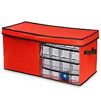 Red Eighty-Two Count Storage Bag for Ornaments