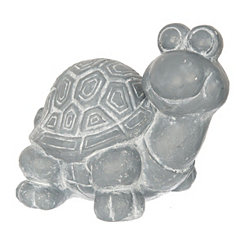 Gray Concrete Turtle Statue