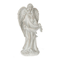 Resin Angel Birdfeeder Statue