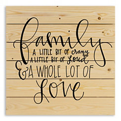 Family A Whole Lot of Love Wood Pallet Plaque