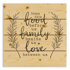 Bless this Food Family and Love Wood Pallet Plaque