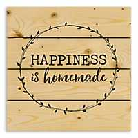 Happiness is Homemade Wood Pallet Plaque