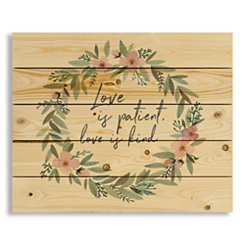 Love is Patient Love is Kind Wood Pallet Plaque