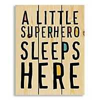 A Little Superhero Lives Here Wood Pallet Plaque