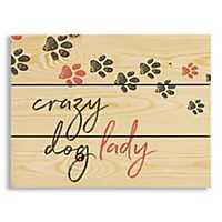 Crazy Dog Lady Wood Pallet Plaque