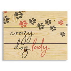 Crazy Dog Lady Wood Pallet Plaque