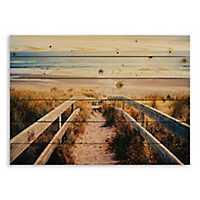 Sandy Beach Pier Wood Pallet Plaque