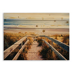 Sandy Beach Pier Wood Pallet Plaque