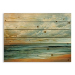 Overhead Beach Scene Wood Pallet Plaque