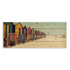Bright Bathing Boxes Wood Pallet Plaque