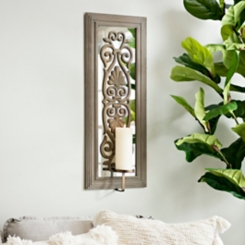 Patterned Mirrored Sconce