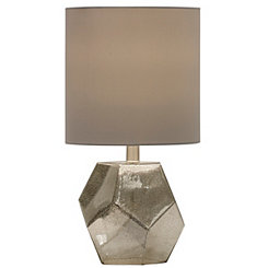 Geometric Mercury Glass Table Lamp