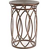 Antique Bronze Marquise Accent Table