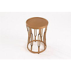 Brass Hourglass Accent Table