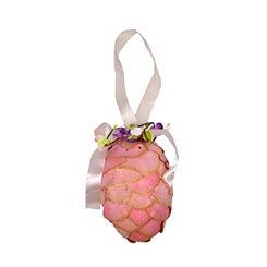 Pink Glitter Pinecone Wall Hang
