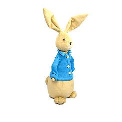 Plush Bunny in Blue Sweater, 19 in.
